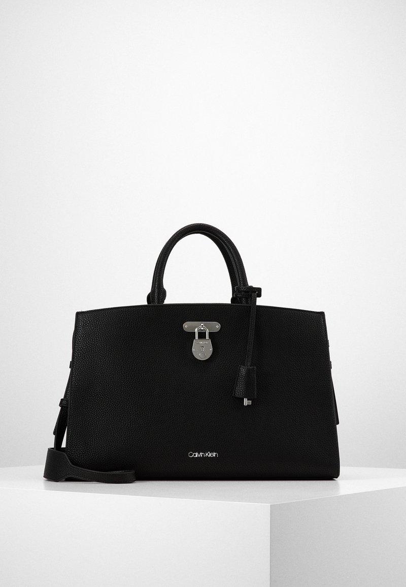 Calvin Klein - DRESSED BUSINESS TOTE  - Handbag - black