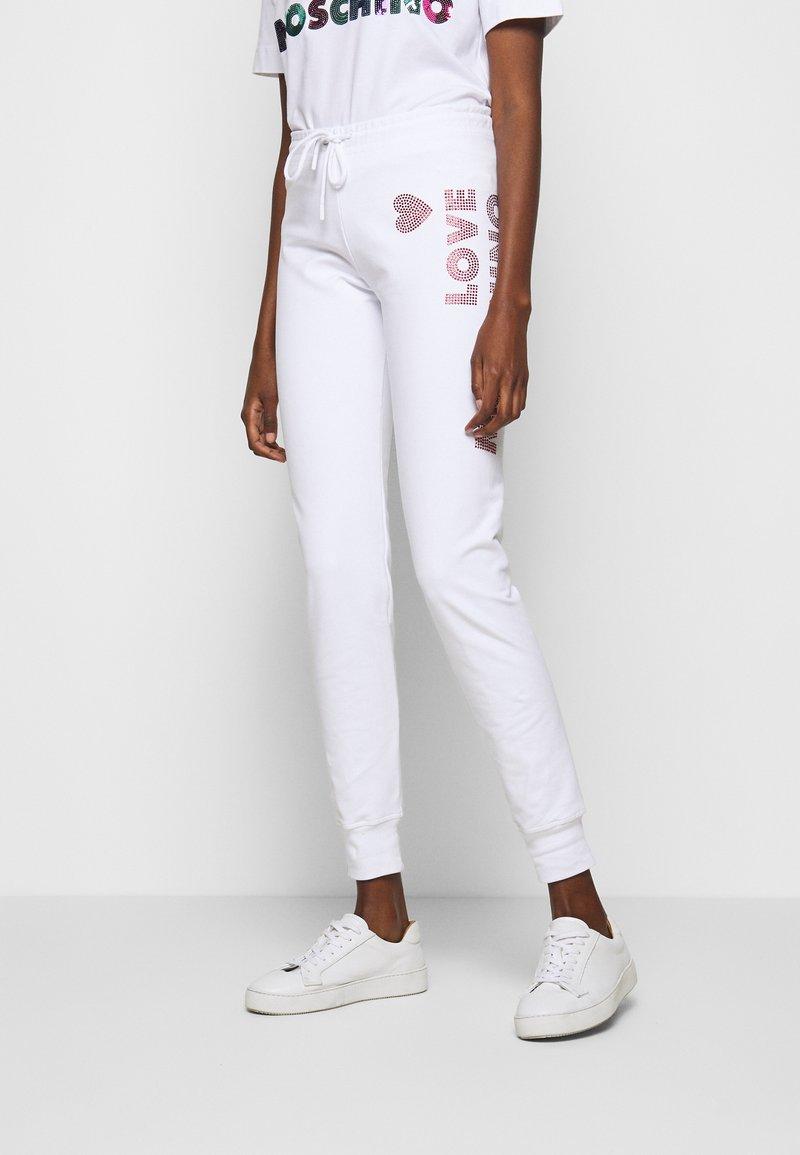 Love Moschino - Pantalon de survêtement - white