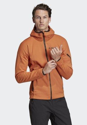 CLIMAHEAT HOODED FLEECE JACKET - Fleece jacket - brown