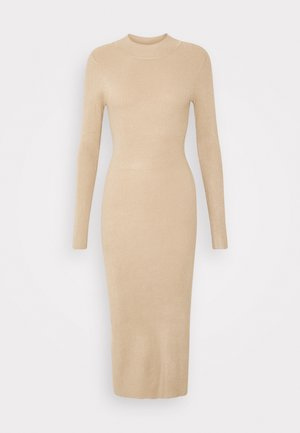 Pletené šaty - beige