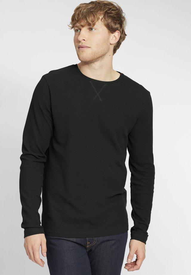UPANO - T-shirt à manches longues - black