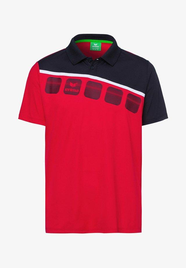 5-C POLOSHIRT KINDER - Poloshirt - red/black/white