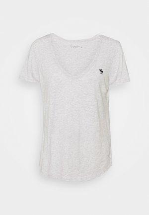 ICON VNECK TEE - Basic T-shirt - heather grey