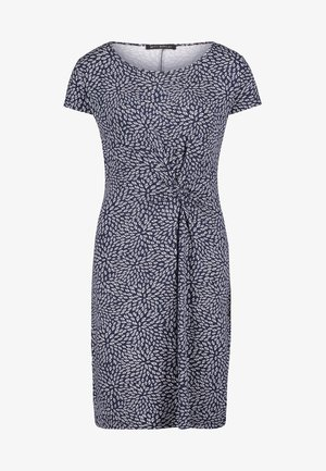 Jerseykleid - dark blue / white