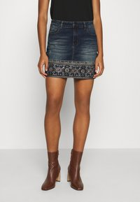 Desigual - FAL DENVER - Denim skirt - denim medium - 0
