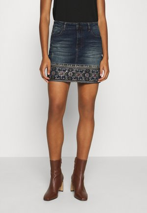 FAL DENVER - Denim skirt - denim medium