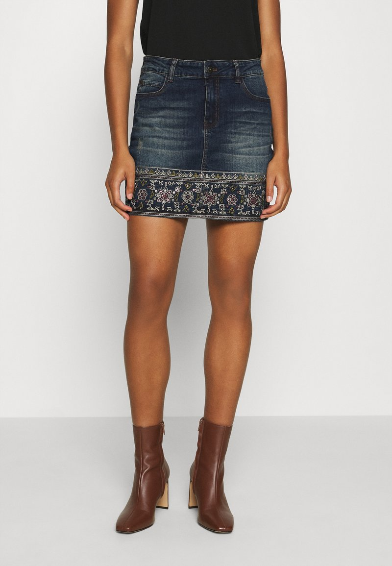 Desigual - FAL DENVER - Denim skirt - denim medium