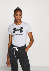 Under Armour - LIVE SPORTSTYLE GRAPHIC - T-shirt z nadrukiem - mod gray light heather - 0