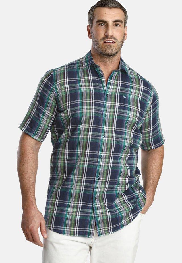 DUKE  - Overhemd - blue green checkered