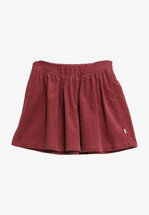 Pleated skirt - burgundy