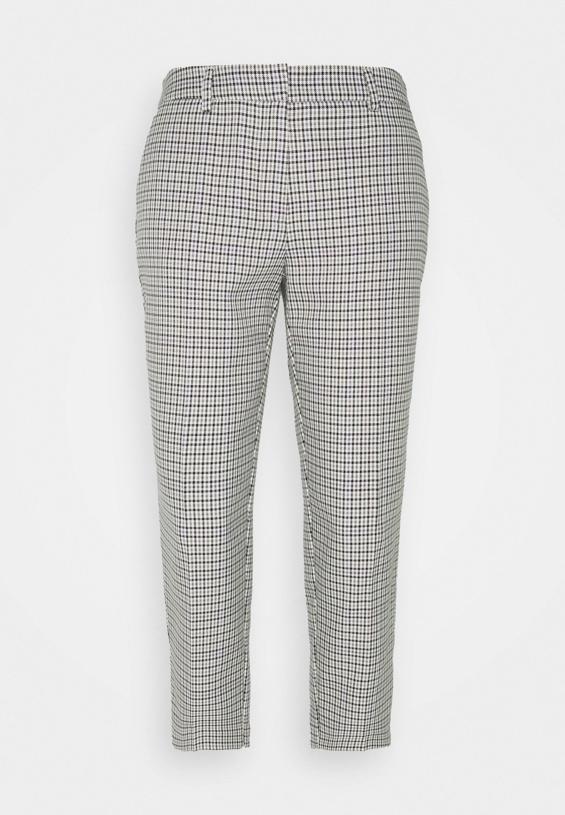 Femme LILAC CHECK NAPLES TROUSERS - Pantalon classique