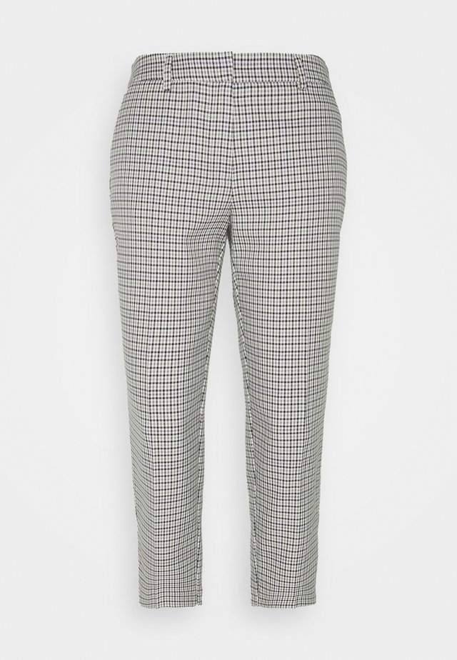 LILAC CHECK NAPLES TROUSERS - Trousers - lilac
