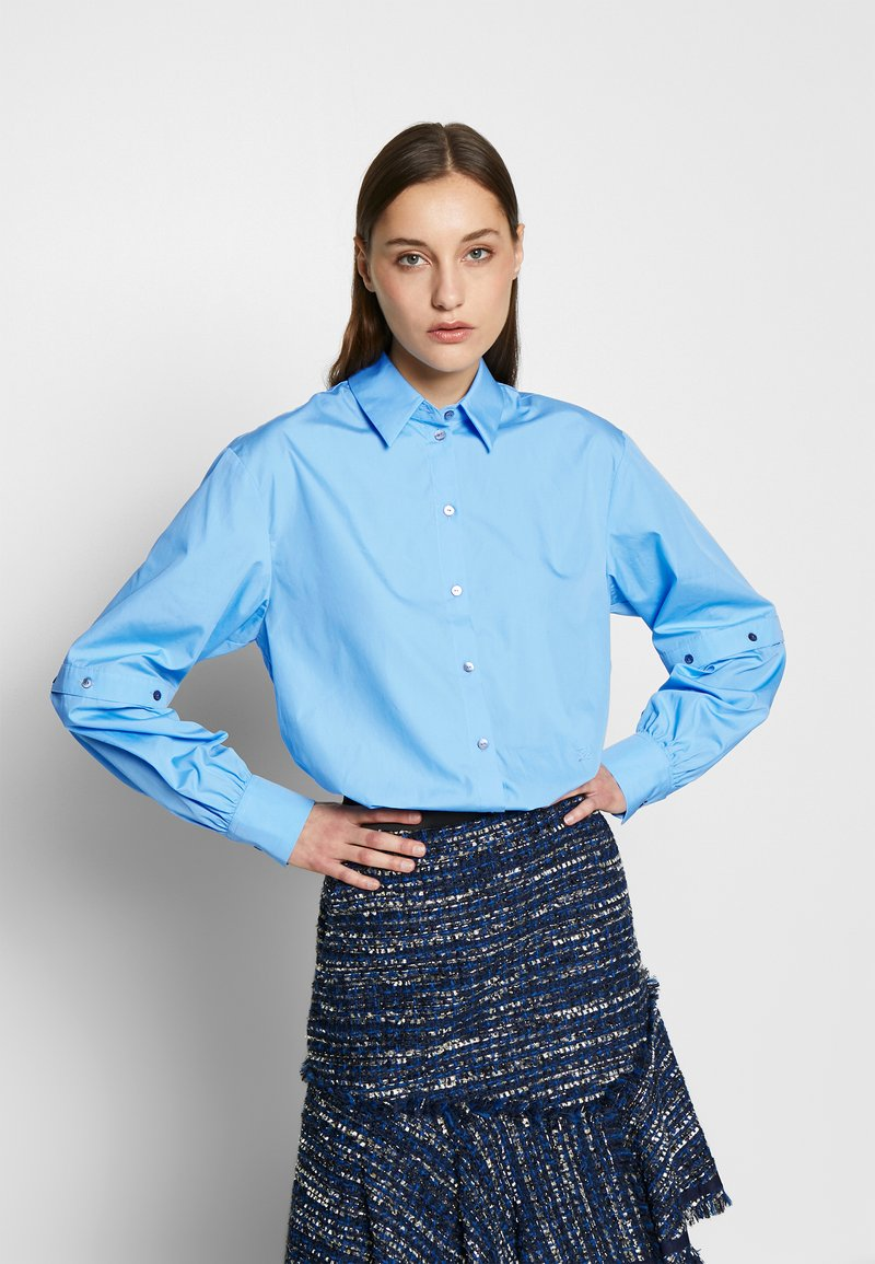 KARL LAGERFELD - POPLIN CUT OUT - Camisa - light blue