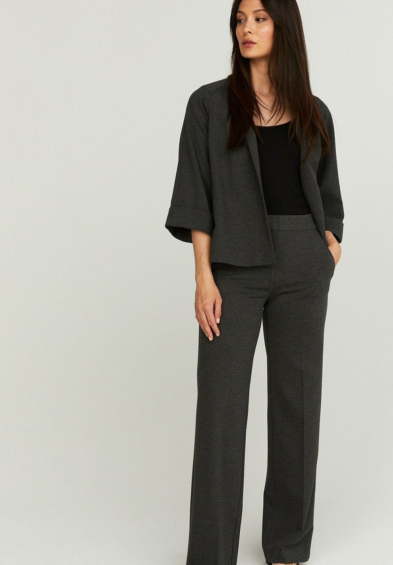 STOCKH LM - PETRA  - Trousers - GREY MELANGE