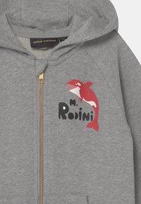 Mini Rodini - ORCA ZIP HOODIE UNISEX - Zip-up hoodie - grey melange - 2