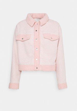 BOUCLE EMBELLISHED BUTTON - Summer jacket - pink