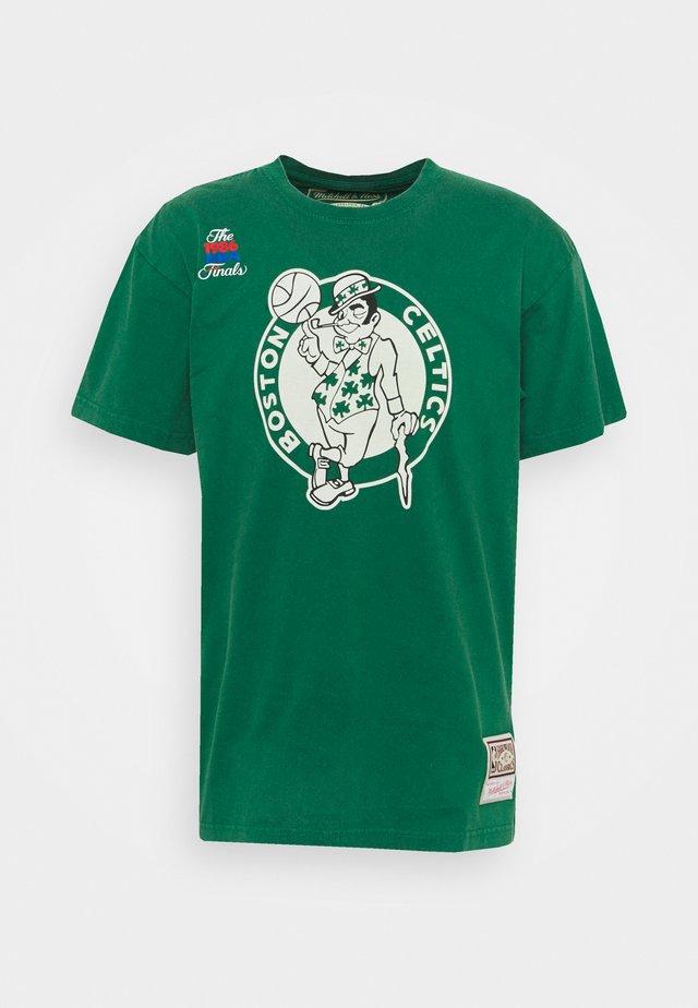 NBA BOSTON CELTICS WORN LOGO TEE - Klubbklær - green