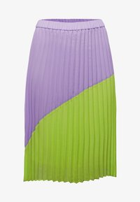 Sheego - A-line skirt - lime/lilac - 5