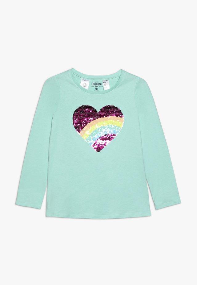 KIDS FLIP SEQUIN - T-shirt à manches longues - turquoise