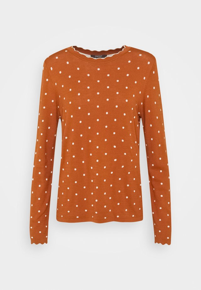 Sweter - rust brown