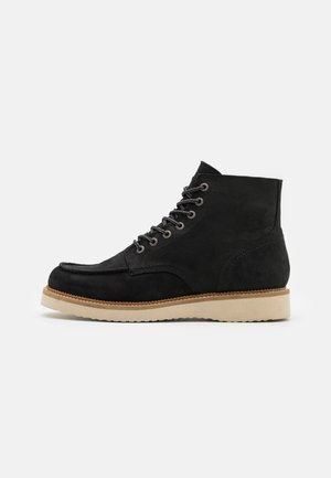 SLHTEO NEW MOC-TOE BOOT - Lace-up ankle boots - black