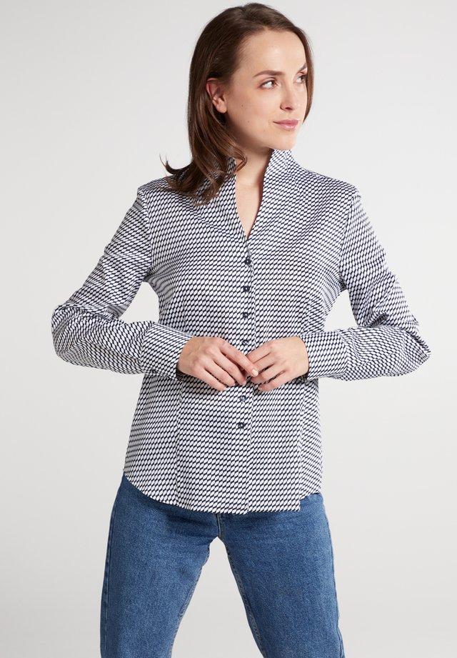 Overhemdblouse - marine/weiß