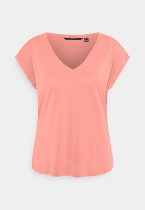 VMFILLI V NECK TEE - T-shirt basic - old rose