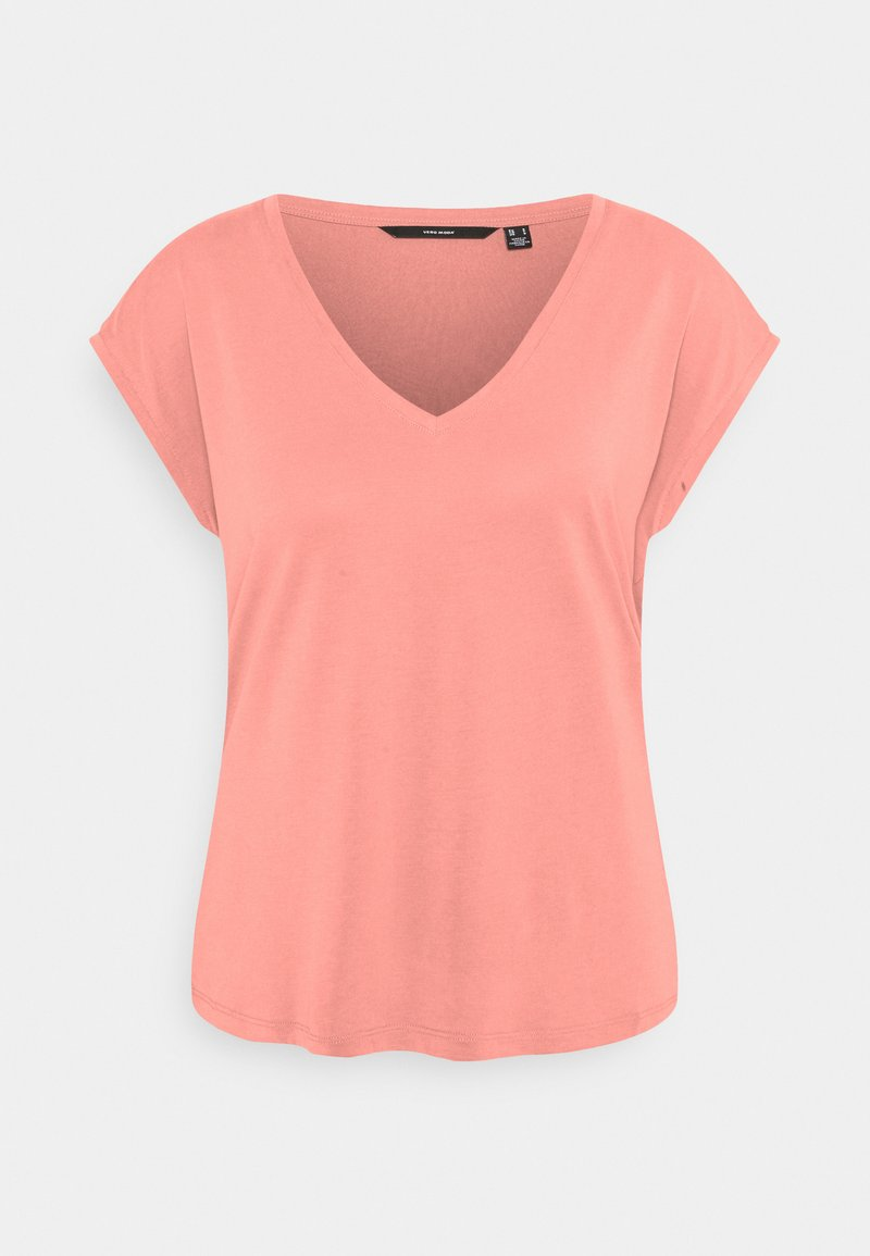 Vero Moda - VMFILLI V NECK TEE - Basic T-shirt - old rose