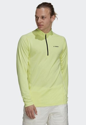 TERREX TRACEROCKER HALF ZIP - Langærmede T-shirts - yellow