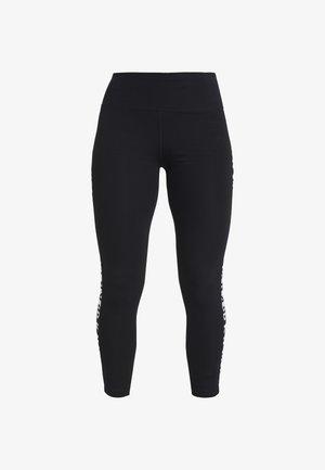 TWO TONE LOGO HIGH WAIST LEGGING - Leggings - black