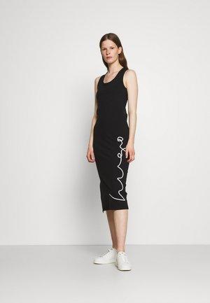 NAMADRA - Jersey dress - black