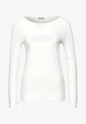 IN UNIFARBE - Long sleeved top - weiß