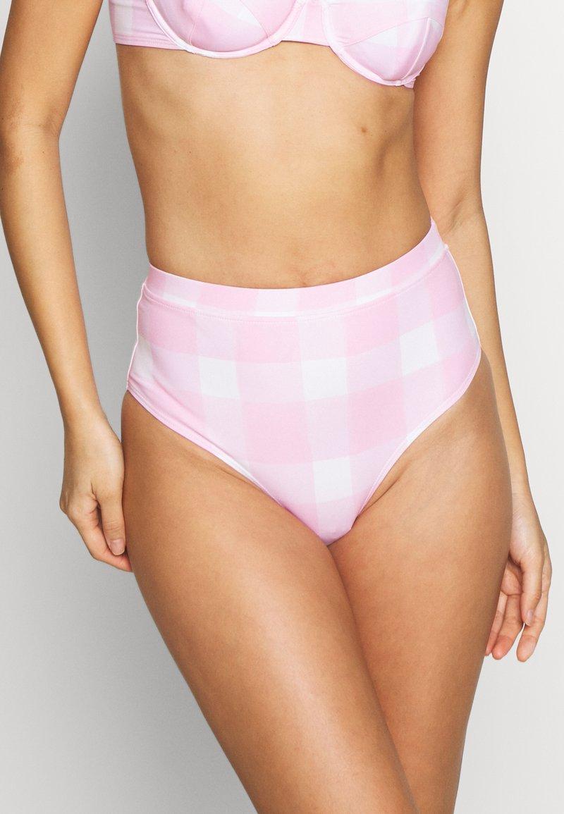 Solid & Striped - THE LILO BOTTOM PAINTED GINGHAM - Bikinialaosa - cloud pink