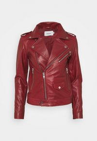 Deadwood - RIVER - Leather jacket - burgundy - 4