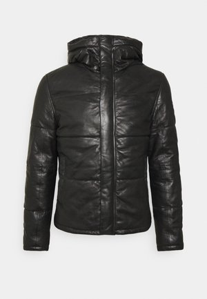 GMDRALE - Leather jacket - black