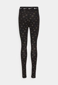 Nike Sportswear - PRINT PACK - Leggings - Trousers - black/metallic gold - 6