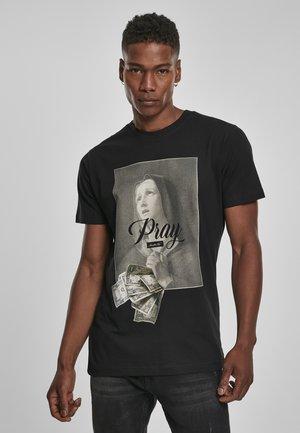MISTER TEE PRAY DOLLAR - T-shirt con stampa - black