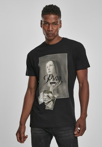 MISTER TEE PRAY DOLLAR - Print T-shirt - black