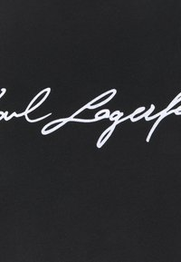 KARL LAGERFELD - SIGNATURE - Triko spotiskem - black - 5