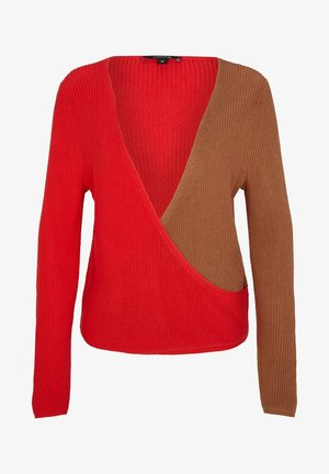 MIT COLOUR BLOCKING-EFFEKT - Jumper - red knit colorblock