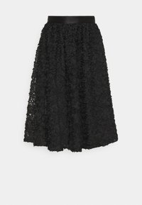 Custommade - ROBINA - A-line skirt - anthracite black - 4