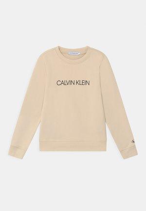 INSTITUTIONAL LOGO UNISEX - Sweatshirt - beige