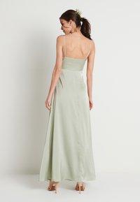 NA-KD - V-NECK FLOWY DRESS - Maxi dress - dusty green - 2