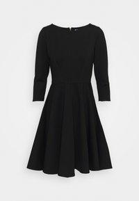 Closet - 3/4 SLEEEVE SKATER DRESS - Jersey dress - black - 0