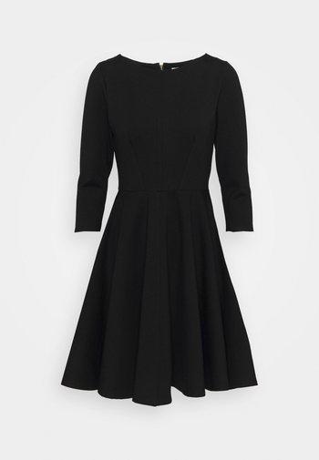 3/4 SLEEEVE SKATER DRESS - Žerzejové šaty - black