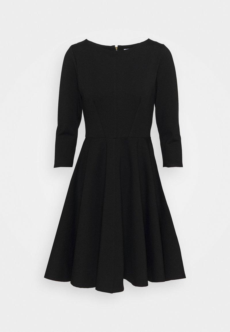 Closet - 3/4 SLEEEVE SKATER DRESS - Jersey dress - black