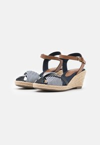 TOM TAILOR - Wedge sandals - navy - 2