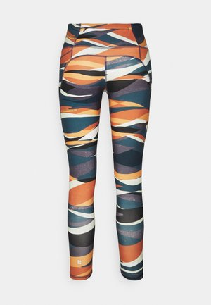 POWER WORKOUT 7/8 LEGGINGS - Legging - orange hills print