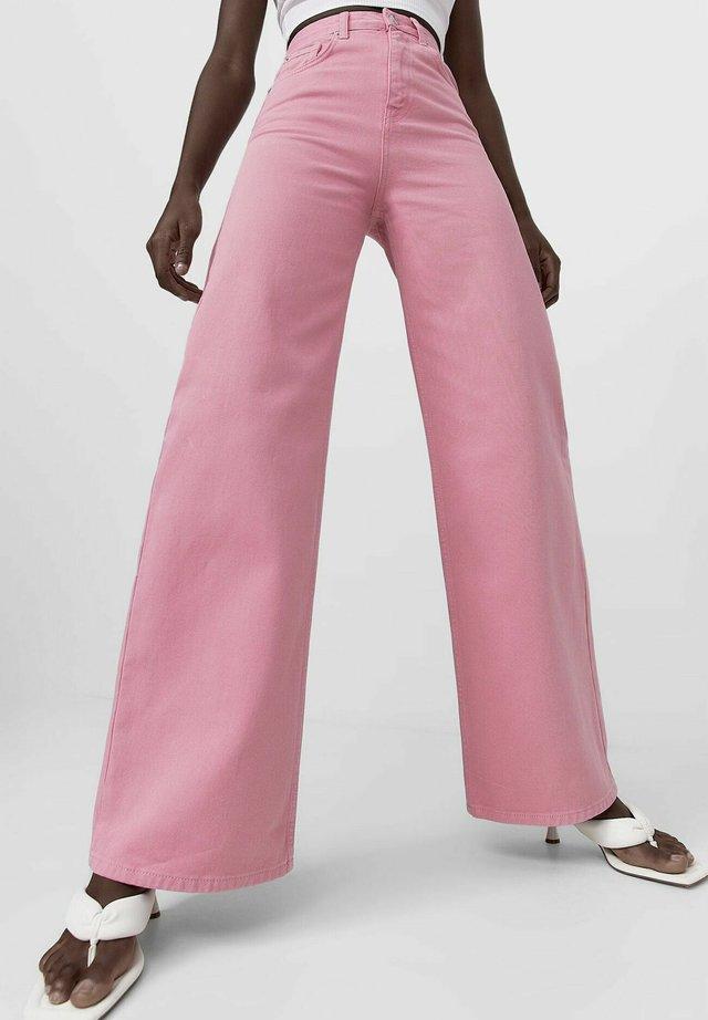 Široké džíny - pink