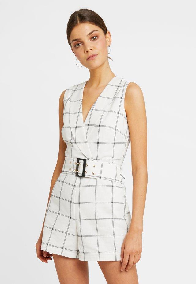 LEXIE - Overall / Jumpsuit /Buksedragter - black/white